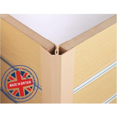 Slatwall 2 Piece Corner Profile 8ft (2440mm) - All Colours