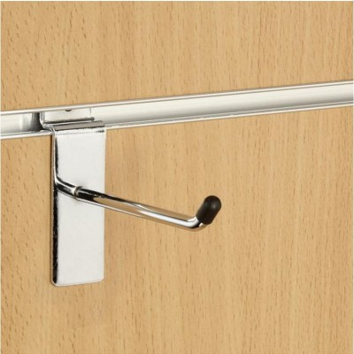 "4"" (100mm) Slatwall Chrome Hook / Prong / Accessory Arm"