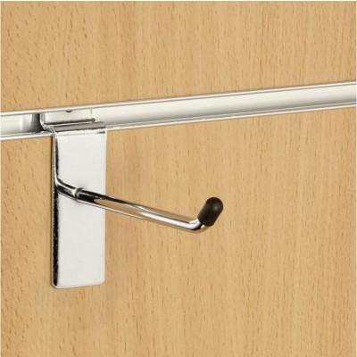 "1"" (25mm) Slatwall Chrome Hook / Prong / Accessory Arm"