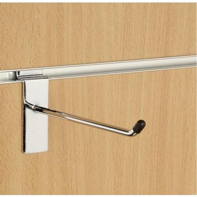 "6"" (150mm) Slatwall Chrome Hook / Prong / Accessory Arm"