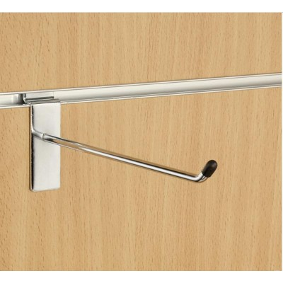 "8"" (200mm) Slatwall Chrome Hook / Prong / Accessory Arm"