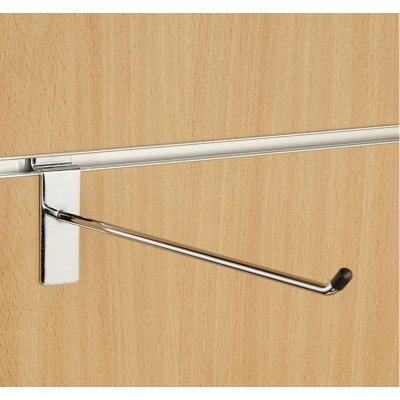 "10"" (250mm) Slatwall Chrome Hook / Prong / Accessory Arm"