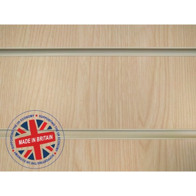 Ash Slatwall Panel 8ft x 4ft (2400mm x 1200mm)
