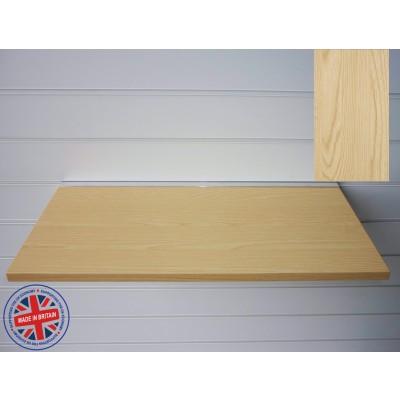 Ash Wood Shelf / Floating Slatwall Shelf - 1000mm wide x 300mm deep