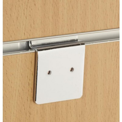 Chrome Slatwall Back Plate. Cabinet / Picture / Frame / Panel Hanging Slatwall Back Plate