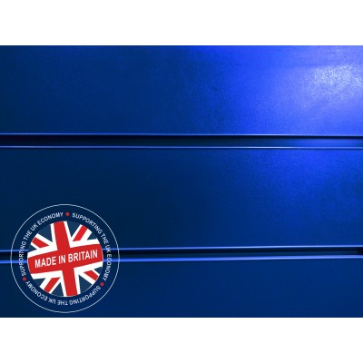 Blue Slatwall Panel 8ft x 4ft (2400mm x 1200mm)