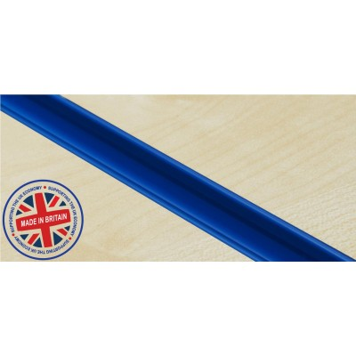 Blue Plastic   Pvc Slatwall Inserts (Pack of 12)