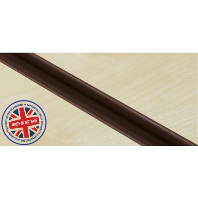 Brown Plastic | Pvc Slatwall Inserts (Pack of 12)