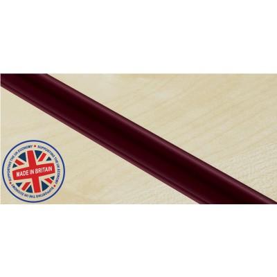 Burgundy Plastic | Pvc Slatwall Inserts (Pack of 12)