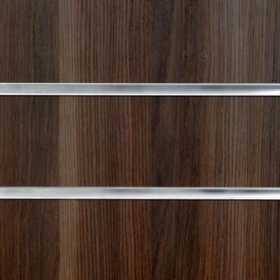 Dark Ash Slatwall Panel 8ft x 4ft (2400mm x 1200mm)