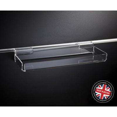 Clear Acrylic Slatwall Display Trinket Tray