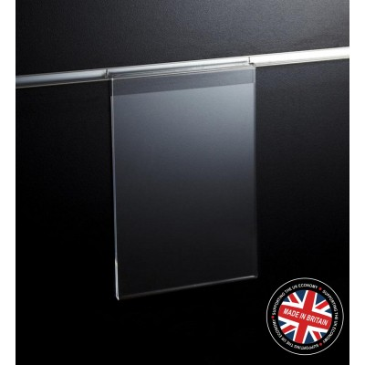 Clear Acrylic Slatwall A5 Information / Showcard / Poster Holder