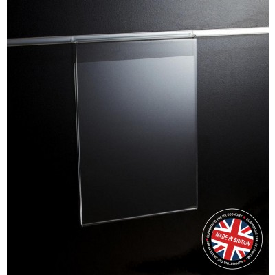 Clear Acrylic Slatwall A4 Information / Showcard / Poster Holder