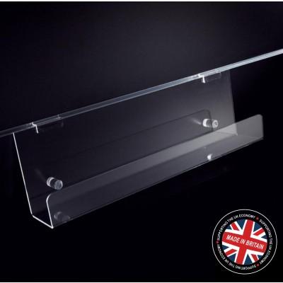Clear Acrylic Slatwall 600mm Magazine Rack