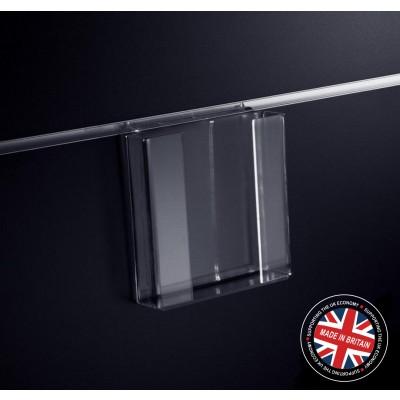 Clear Acrylic Slatwall 1/3 (One Third) A4 Leaflet / Brochure Holder - Straight