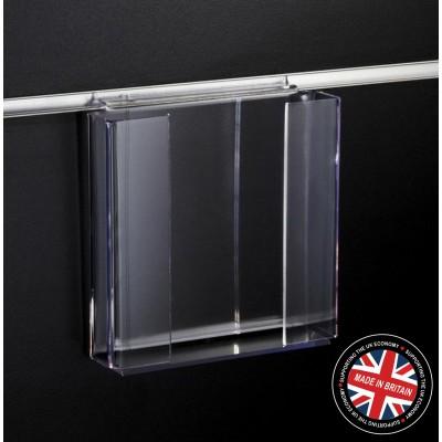 Clear Acrylic Slatwall A5 Leaflet / Brochure / Catalogue Holder - Straight