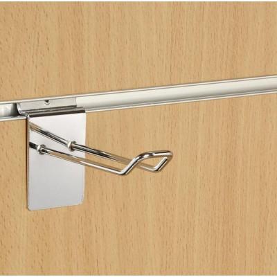 "4"" (100mm) Slatwall Chrome Euro Hook / Prong / Accessory Arm"
