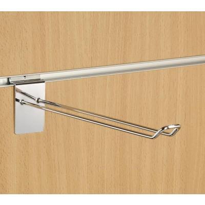 "10"" (250mm) Slatwall Chrome Euro Hook / Prong / Accessory Arm"