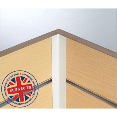 Slatwall 90 degree Fixed Corner Profile 8ft (2440mm) - All Colours
