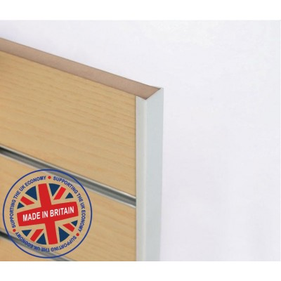 Slatwall Flat End Capping / Edging Profile 8ft (2440mm) - All Colours