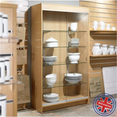 Floor Standing Glass Display Showcase Cabinet - 6ft (1.8m) high
