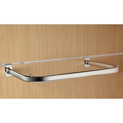 600mm (60cm) Chrome Slatwall D Rail Hanging Display Rail