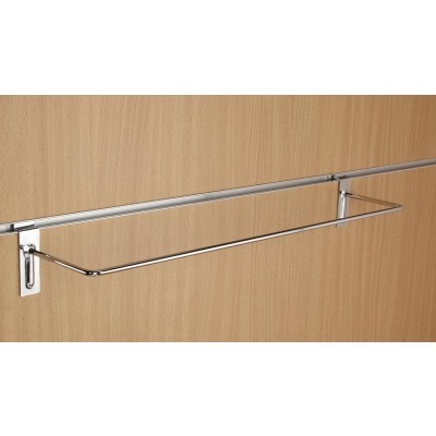 Chrome Slatwall Gift Wrap Hanging Display Rail