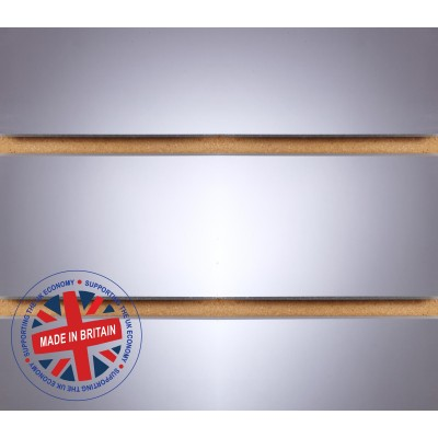 Mirror Slatwall Panel 4ft x 4ft (1200mm x 1200mm) Mirror Acrylic Laminate Slat Wall
