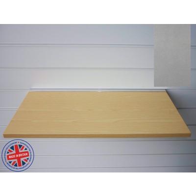 Pewter Wood Shelf / Floating Slatwall Shelf - 1000mm wide x 300mm deep