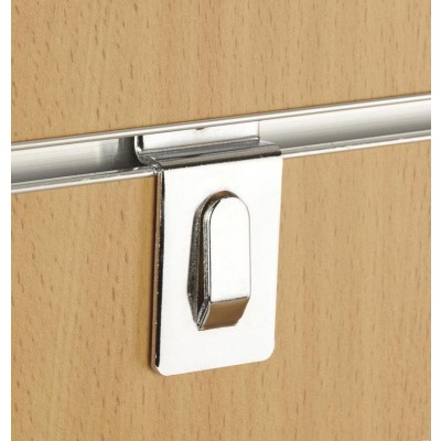 Heavy Duty Chrome Slatwall Picture and Accessory Hook