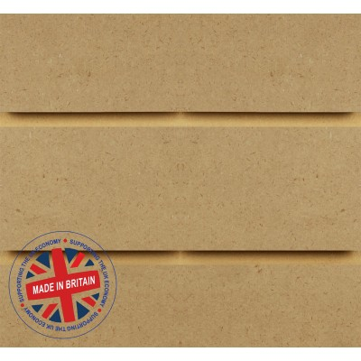 Raw MDF Slatwall Panel 4ft x 4ft (1200mm x 1200mm)