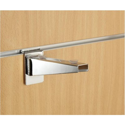 "6"" inch (150mm) Chrome Slatwall Universal Wood Glass Shelf Bracket"
