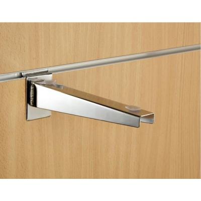 "9"" inch (230mm) Chrome Slatwall Universal Wood Glass Shelf Bracket"