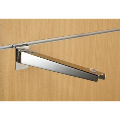 "12"" inch (300mm) Chrome Slatwall Universal Wood Glass Shelf Bracket"