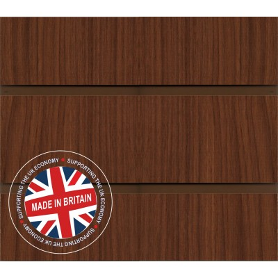 Walnut Slatwall Panel 8ft x 4ft (2400mm x 1200mm)