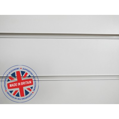 White Slatwall Panel 8ft x 4ft (2400mm x 1200mm)