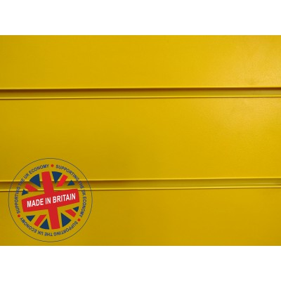 Yellow Slatwall Panel 8ft x 4ft (2400mm x 1200mm)