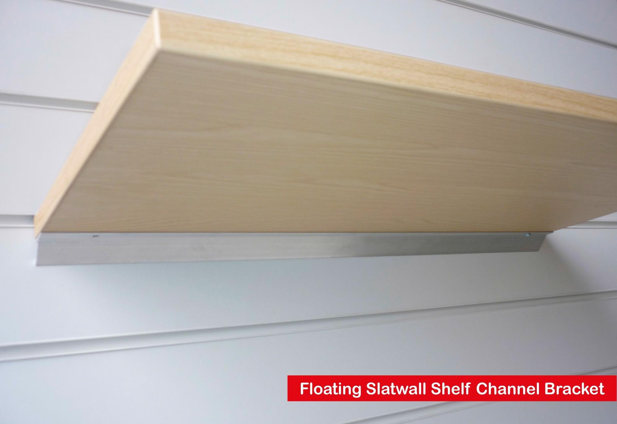 Oak Wood Shelf Floating Slatwall Shelf 1000mm Wide X