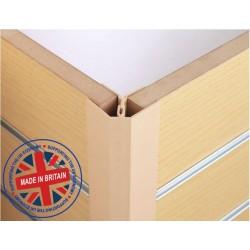 Slatwall 2 Piece Corner Profile - All Colours