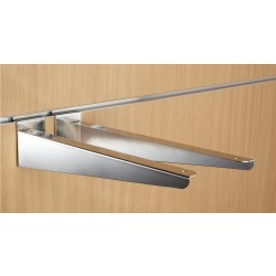 "14"" inch (350mm) Chrome Slatwall Wood Shelf Brackets (pair)"