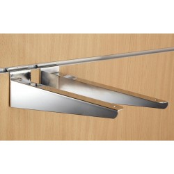 "12"" inch (300mm) Chrome Slatwall Wood Shelf Brackets (pair)"
