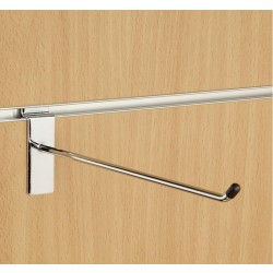 "12"" (300mm) Slatwall Chrome Hook / Prong / Accessory Arm"