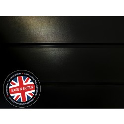 Black Slatwall Panel 4ft x 4ft (1200mm x 1200mm)