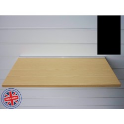 Black Wood Shelf / Floating Slatwall Shelf - 1200mm wide x 400mm deep