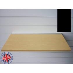 Black Wood Shelf / Floating Slatwall Shelf - 1200mm wide x 400mm deep