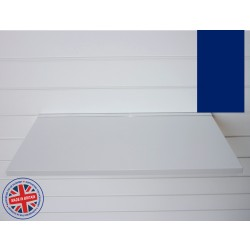 Blue Wood Shelf / Floating Slatwall Shelf - 1200mm wide x 200mm deep