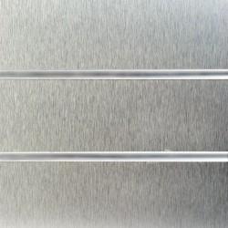 Brushed Aluminium Laminate Slatwall Panel 8ft x 4ft (2400mm x 1200mm)