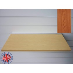 Cherry Wood Shelf / Floating Slatwall Shelf - 1200mm wide x 400mm deep