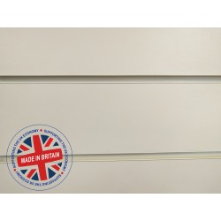 Ivory / Tego Cream / Coral Slatwall Panel 8ft x 4ft (2400mm x 1200mm)