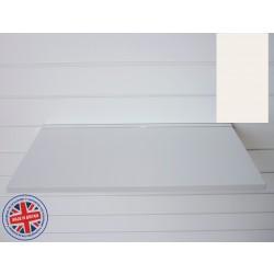 Coral Wood Shelf / Floating Slatwall Shelf - 1200mm wide x 400mm deep